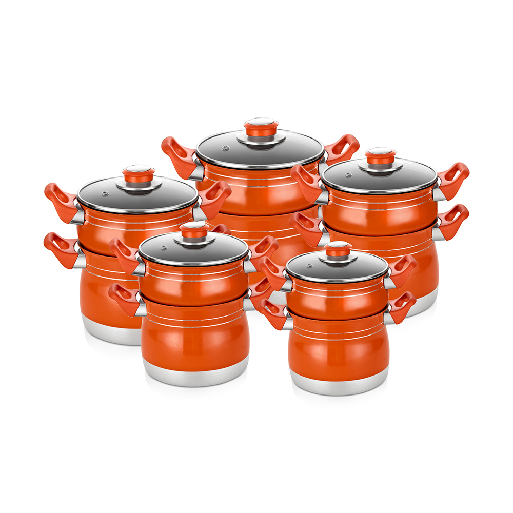 Press aluminum steamer pot