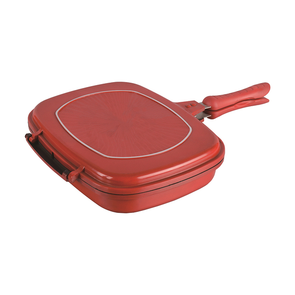 Die cast aluminum double pan
