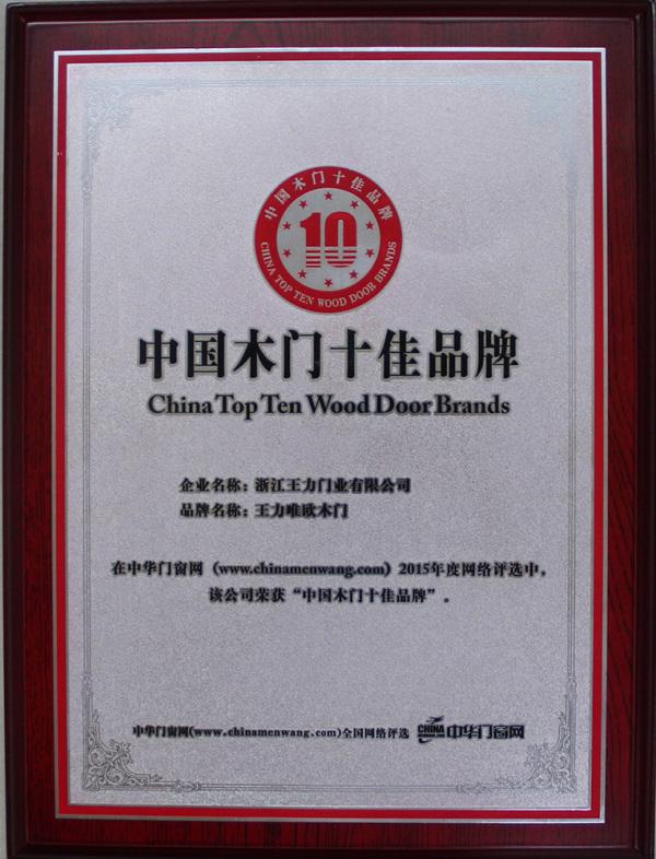 中国木门十佳品牌