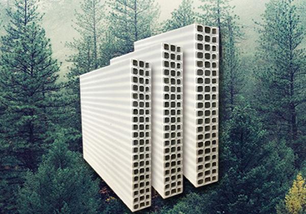 低碳、綠色生活用中空塑料建筑模板