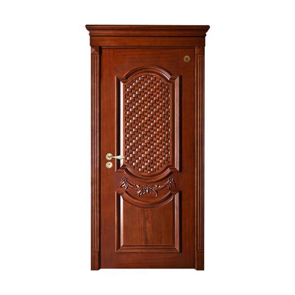 实木油漆套装门 GLL-S-1616HH红胡桃