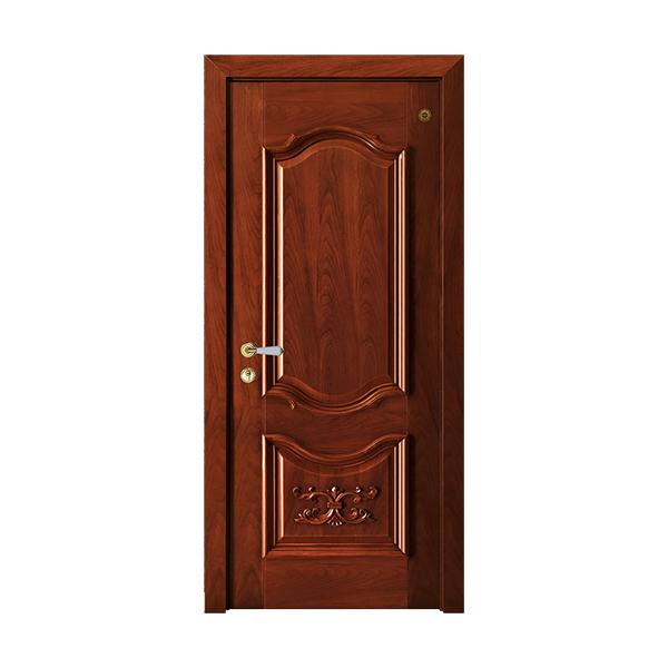 实木油漆套装门 GLL-S-1602HH雕花木门红胡桃