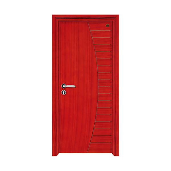 实木油漆套装门 HT-SB-707柚木