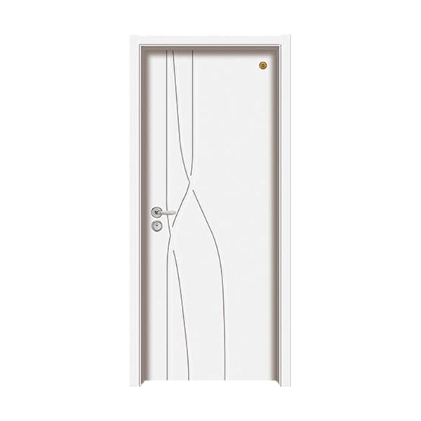 实木油漆套装门 GLL-S-1650B纯白