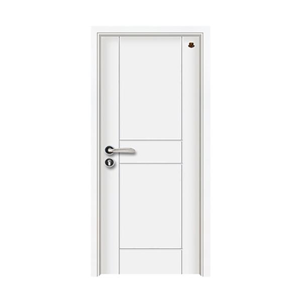实木油漆套装门 HT-SB-13纯白