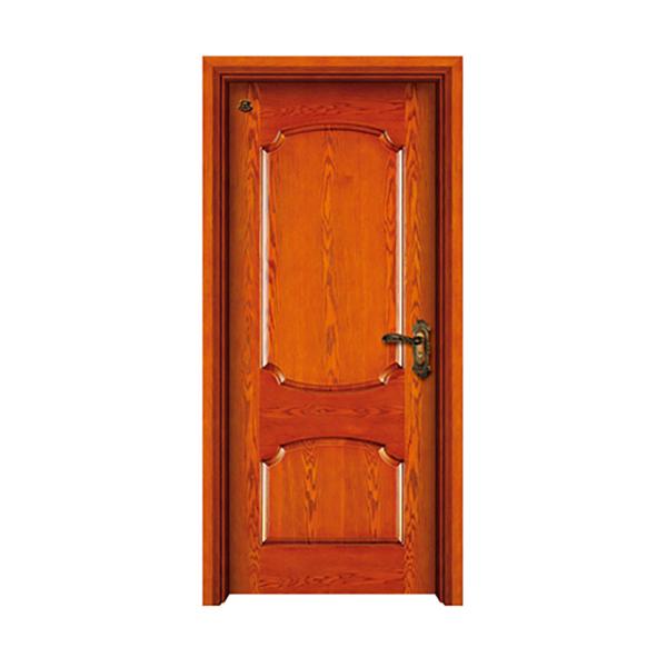 实木油漆套装门 HT-SC-905橡木仿古漆