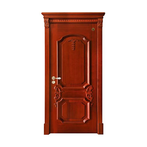 实木油漆套装门 GLL-S-1617HH红胡桃