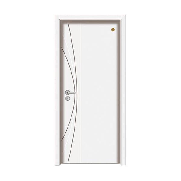 实木油漆套装门 GLL-S-1658B纯白