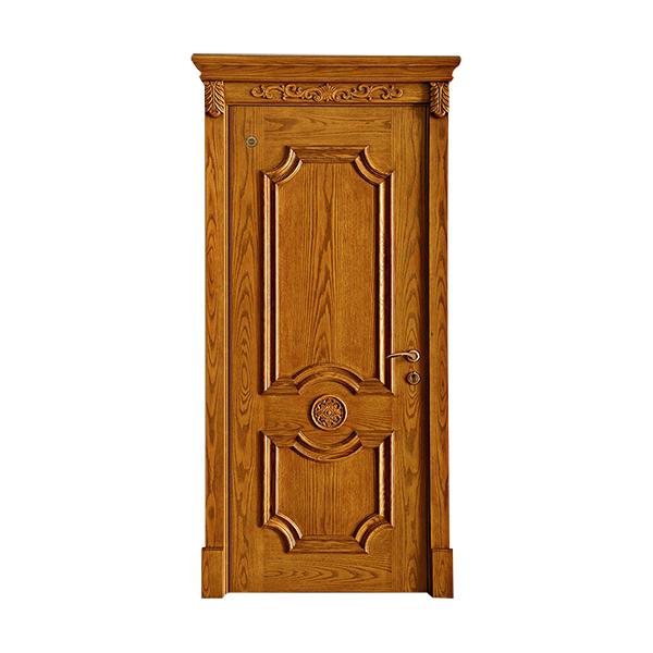 实木油漆套装门 GLL-S-1601AH雕花木门橡木仿古