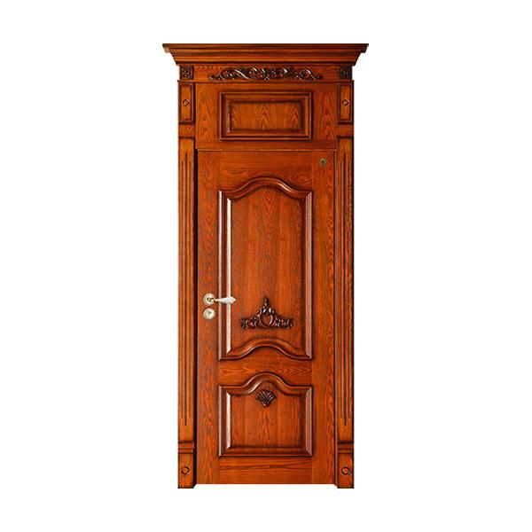 实木油漆套装门 GLL-S-1607AH水曲柳仿古