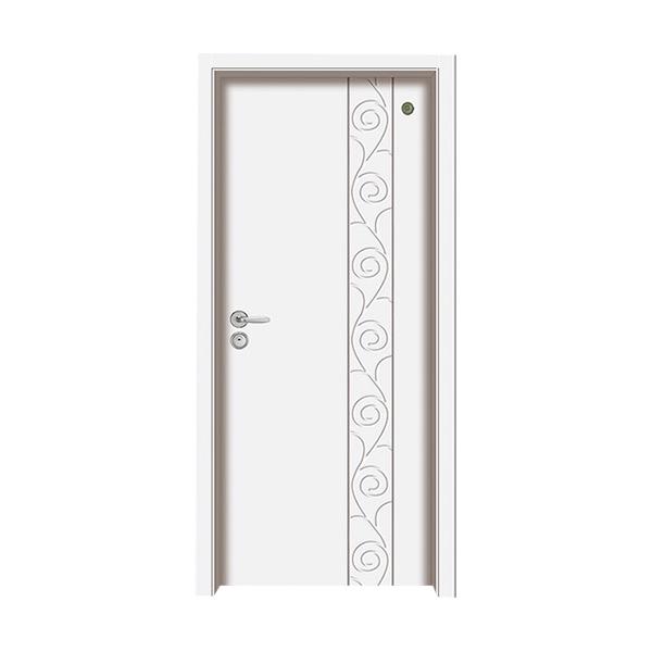 实木油漆套装门 GLL-S-1656纯白