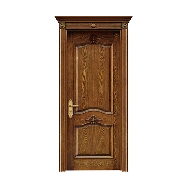 实木油漆套装门 HT-SC-112橡木仿古