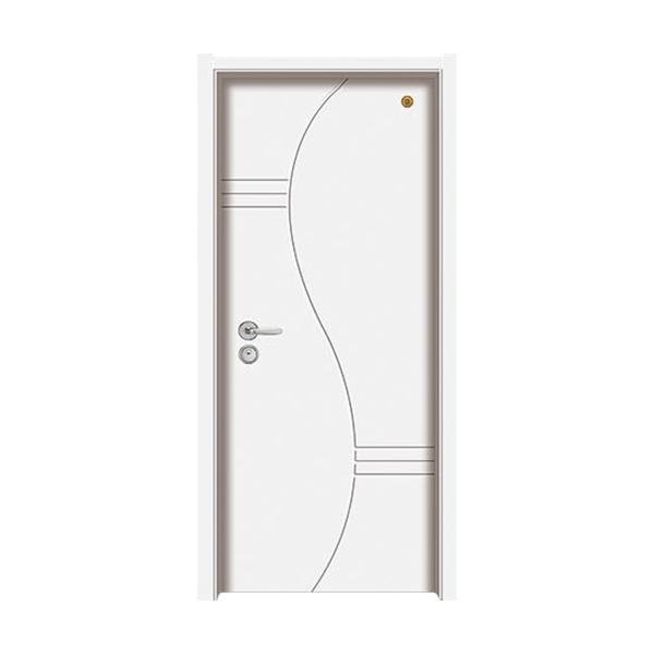 实木油漆套装门 GLL-S-1651B纯白