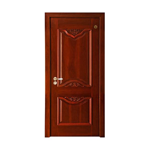 实木油漆套装门 GLL-S-1620AH红胡桃