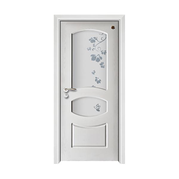 实木油漆套装门 HT-SB-901纯白开放