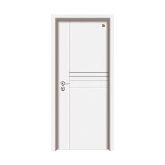 实木油漆套装门 GLL-S-1639B纯白