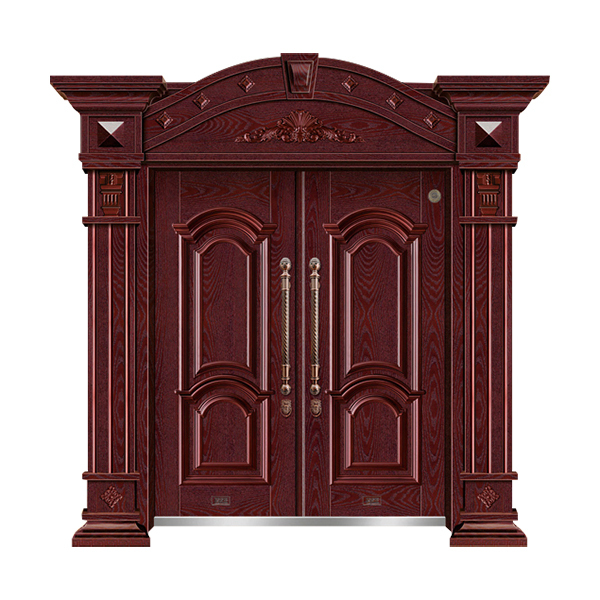 别墅大门系列 GLL-F-1608红木红橡