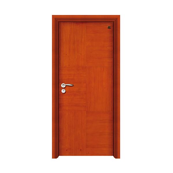 实木油漆套装门 HT-SB-219花梨木本色