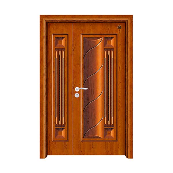 实木油漆套装门 HT-SA-8黄花梨
