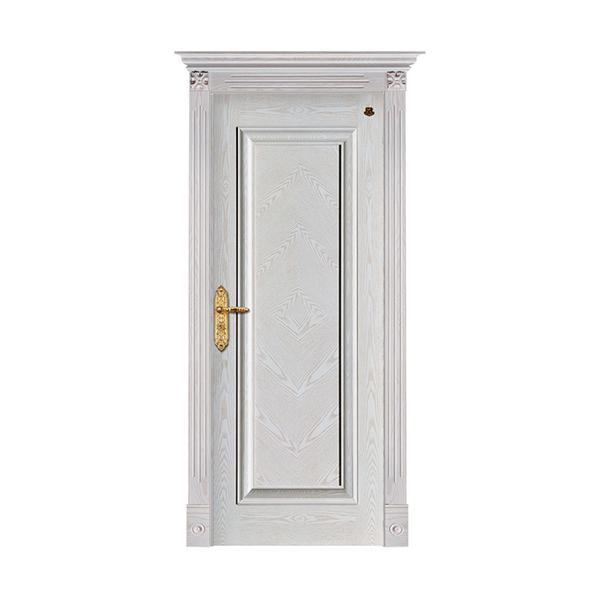 实木油漆套装门 HT-SA-118橡木仿古白