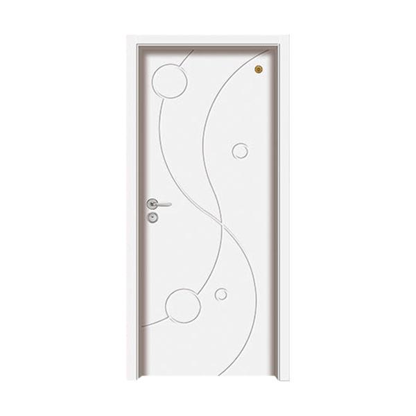实木油漆套装门 GLL-S-1653B纯白