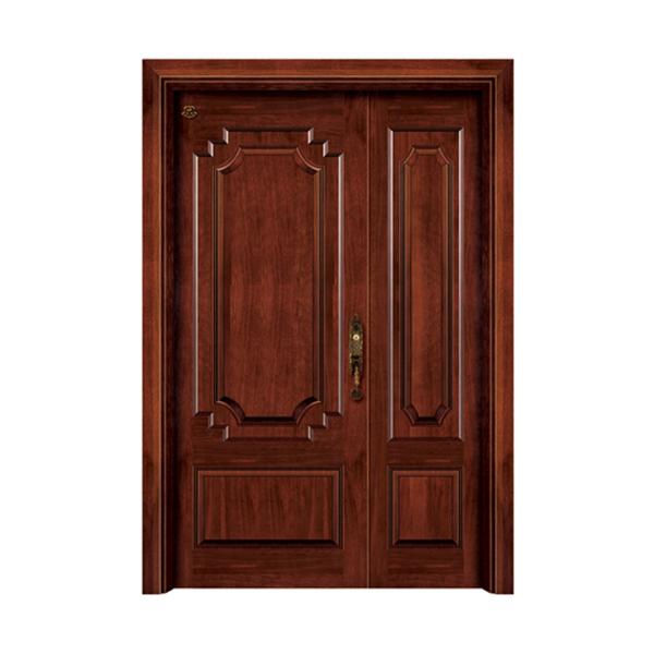 实木油漆套装门 HT-SC-908黑胡桃本色