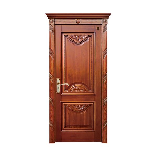 实木油漆套装门 HT-SC-123红胡桃