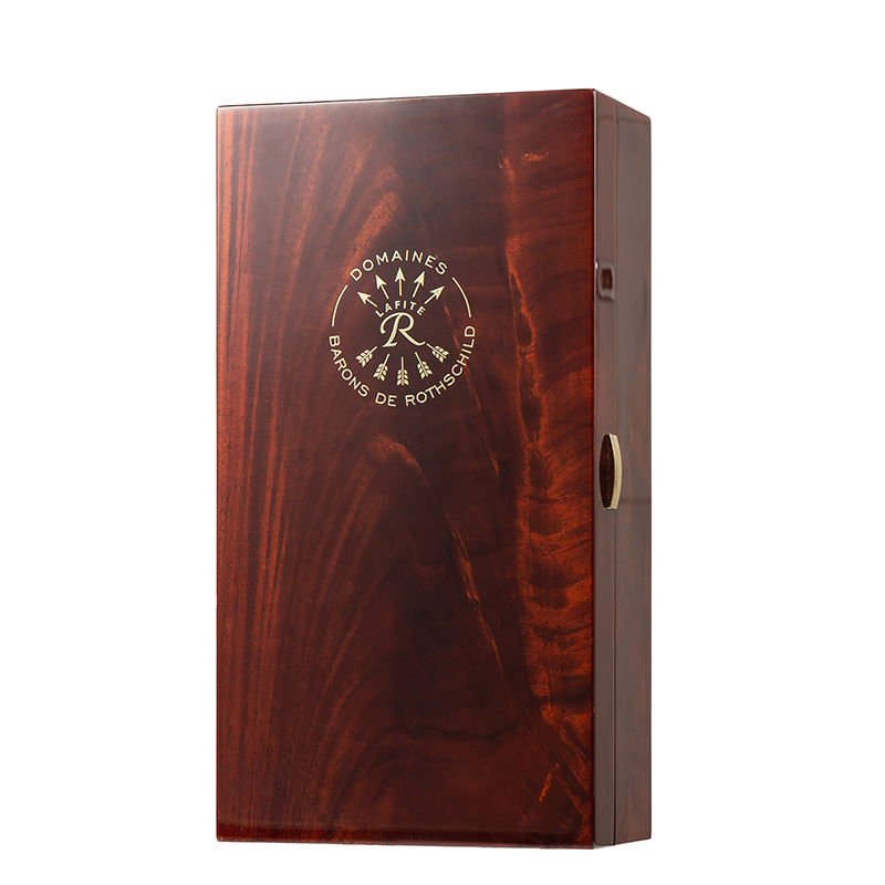 High Quality Glossy Wooden Packaging Box With Inlay For Chinese LiquorNone