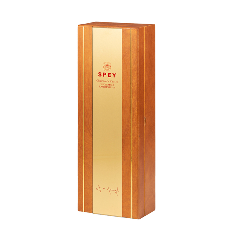 Premium Matt Lacquered Wooden Liquor Packaging Box With InlayNone