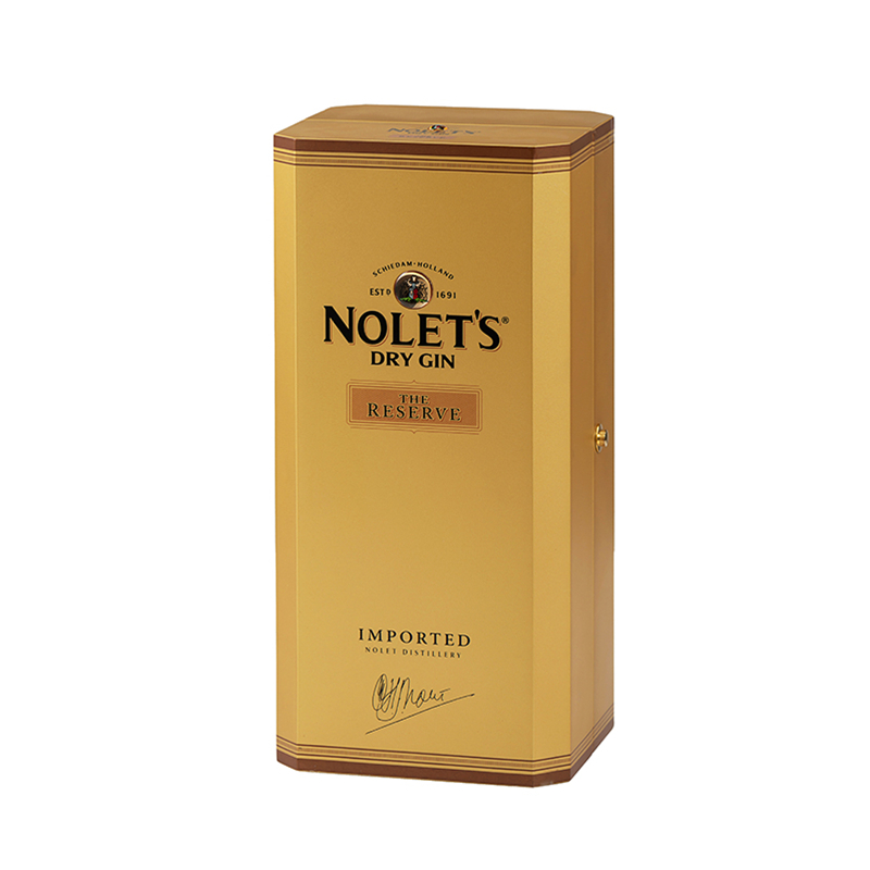 Hot Sale Custom Golden Wooden Packaging Box For LiquorNone