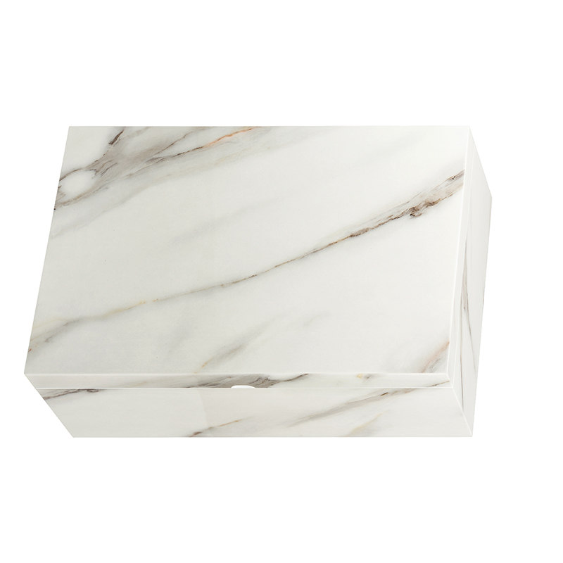 Marble Grain Wooden Gift Packaging Box With Inlay For LiquorNone