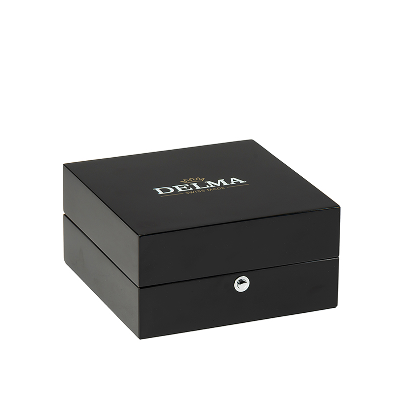 Black High Glossy Wooden Watch Packaging Box With PillowNone