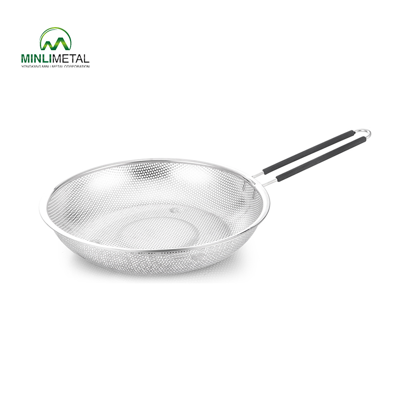 S/S Punching Strainer with Silicone Handle