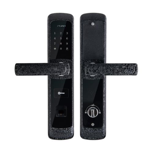 富新智能鎖FA-8803黑色冰裂紋