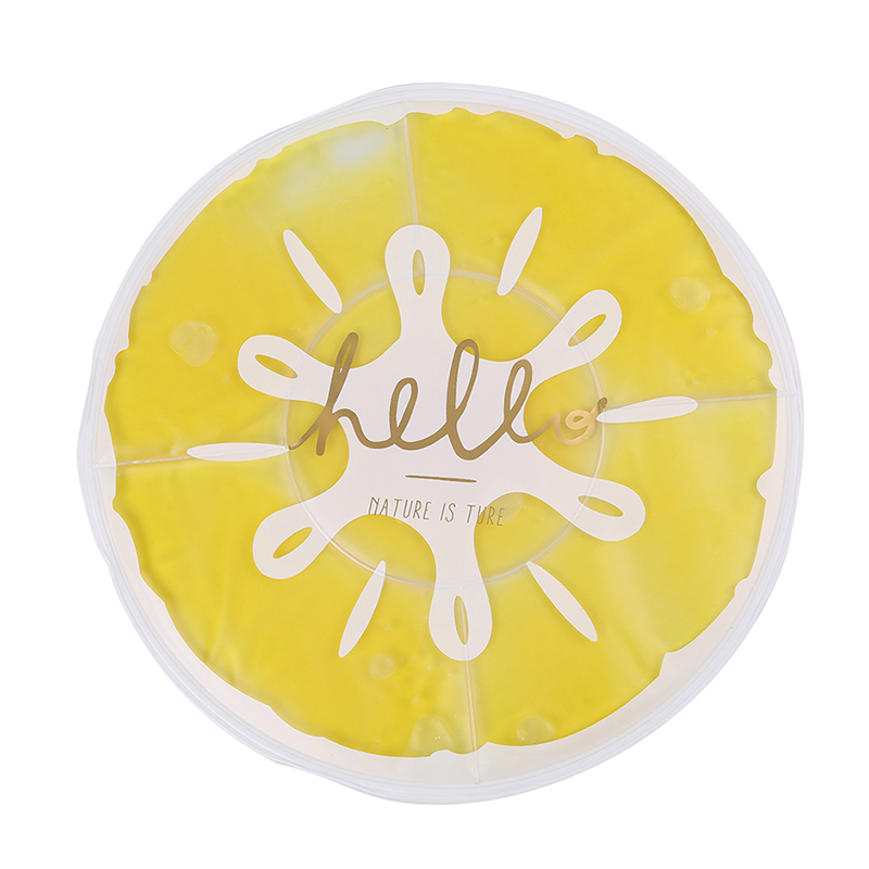 Refreshing lemon round ice pad