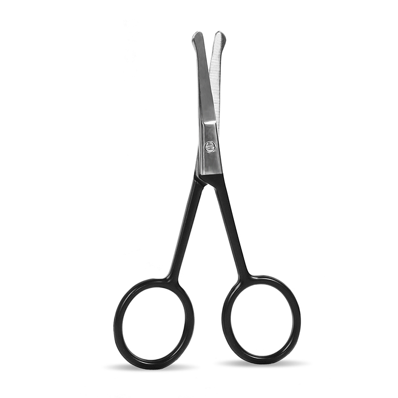 Coated Round Head Eyebrow Scissors - Blue Series
