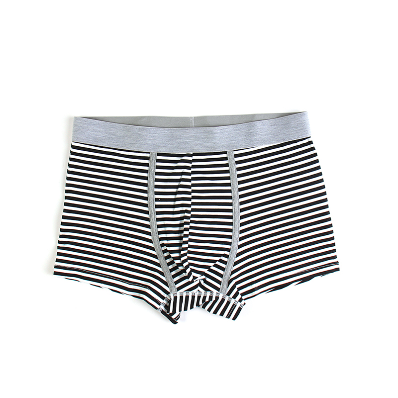 Stylish stripe printed men's boxers in black