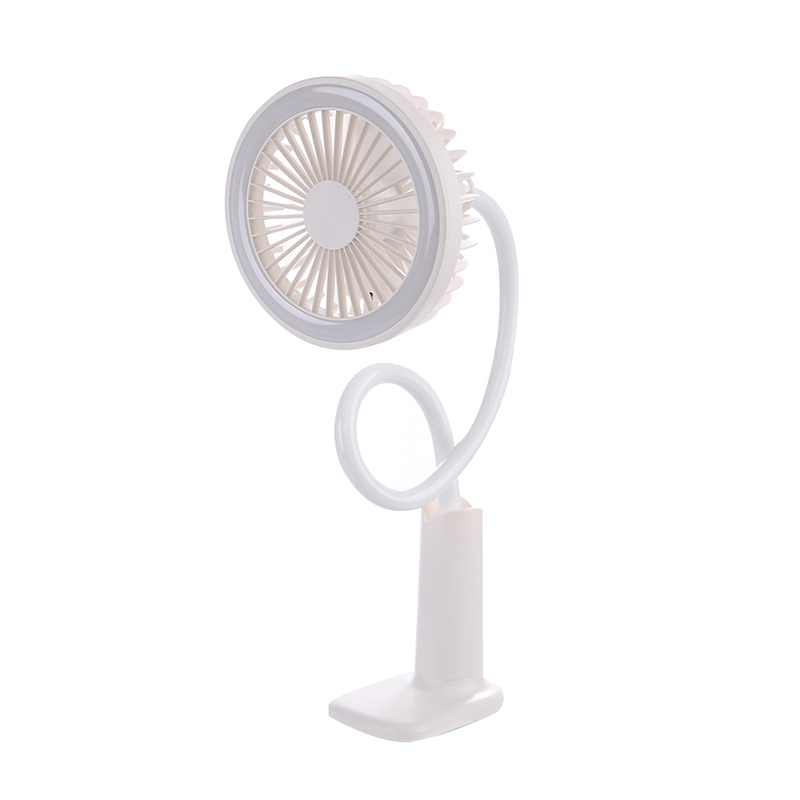 Portable Lighting Lazy Stand Fan - White