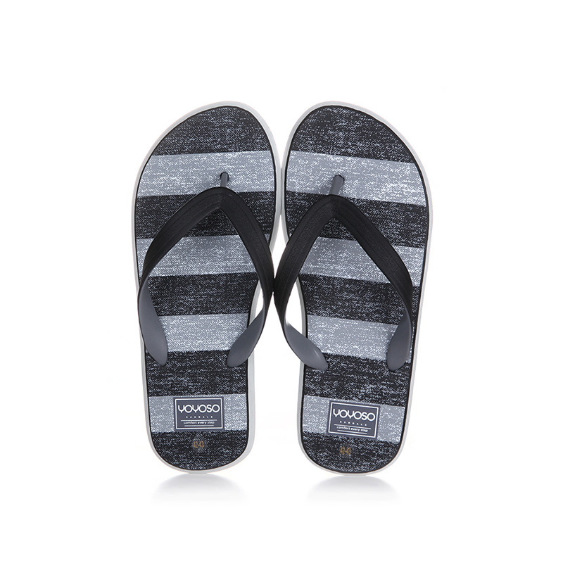 Cross stripe men's flip flops size 44-45