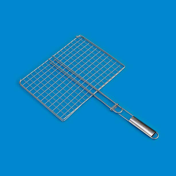 不锈钢柄双钩烤夹BQ583SA