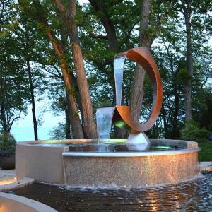銅水景雕塑
