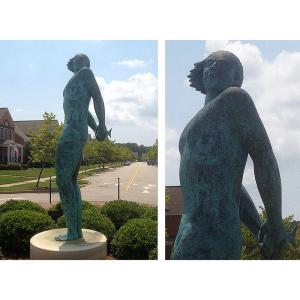 不銹鋼與銅人物銅雕