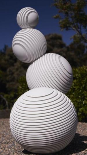 戶外不銹鋼發光雕塑
