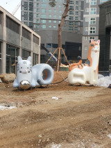 韓國不銹鋼城市雕塑