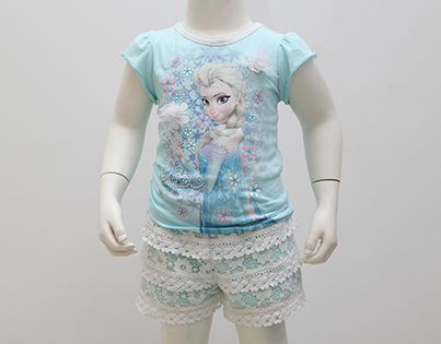 女童套裝(T恤+短褲)