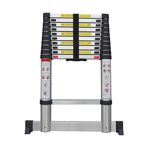 aluminium telescopic ladder with soft close design DLT212E