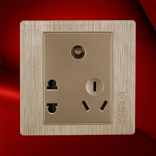 电视五孔插座 F02-V23C