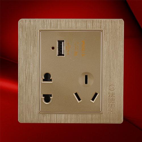 USB五孔插座 F02-US23C