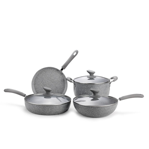 Mable Coating Forged Aluminum Cookware Set JX-FST-06