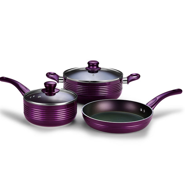 Pearlescent Purplt Forged Aluminum Cookware Set JX-FST-08